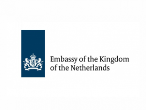Logo of the Embassy of the Kindom of Netherlands in Priština.