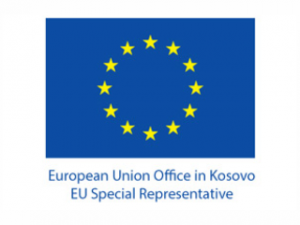 Logo of the European Union Office in Kosovo.