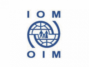 Logo of the International Organization for Migration.