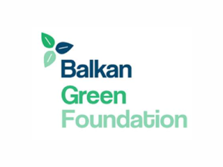 Logo of the Balkan Green Foundation.