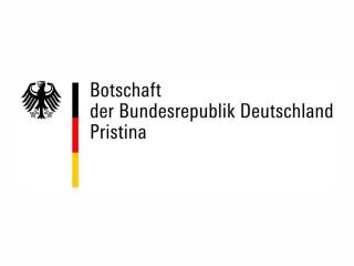 Logo of the Embassy of Germany in Priština.