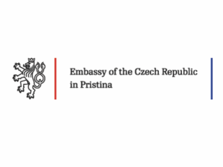 Logo of the Embassy of the Czech Republic in Priština.