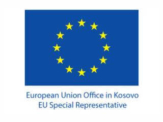 Logo of the European Union Office in Kosovo.