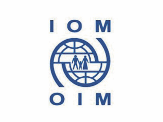 Logo of the International Organization for Migration.